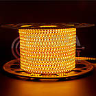 Світлодіодна стрічка 220В жовта AVT smd 2835-120 лід/м 4Вт/м, герметична. Бухта 50 метрів., фото 2