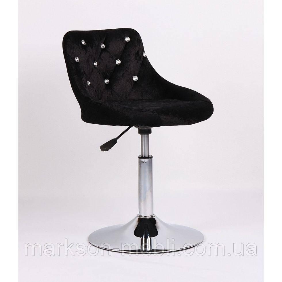 Косметичне крісло HC931N чорний велюр