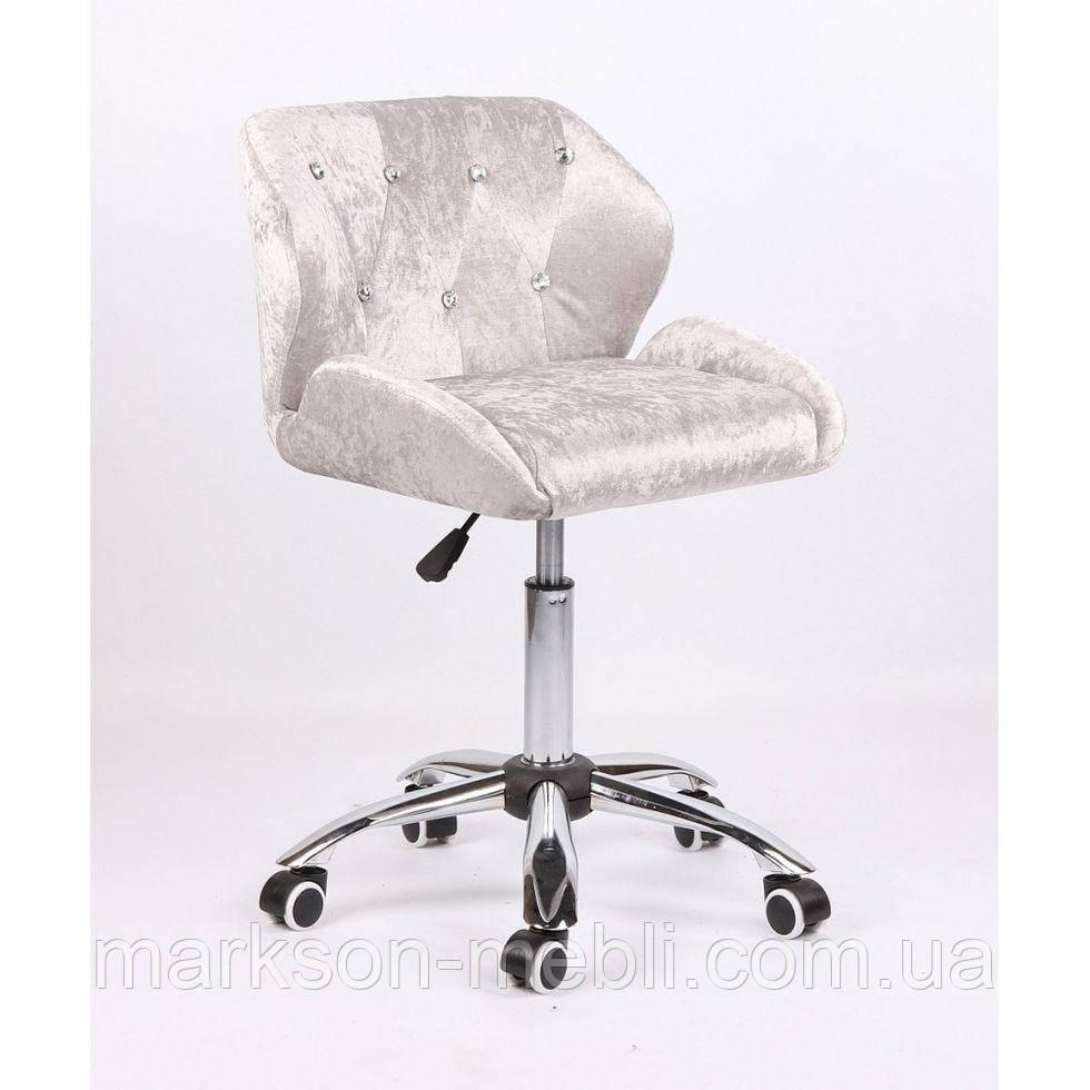 Косметическое кресло HC949K серебристое велюр