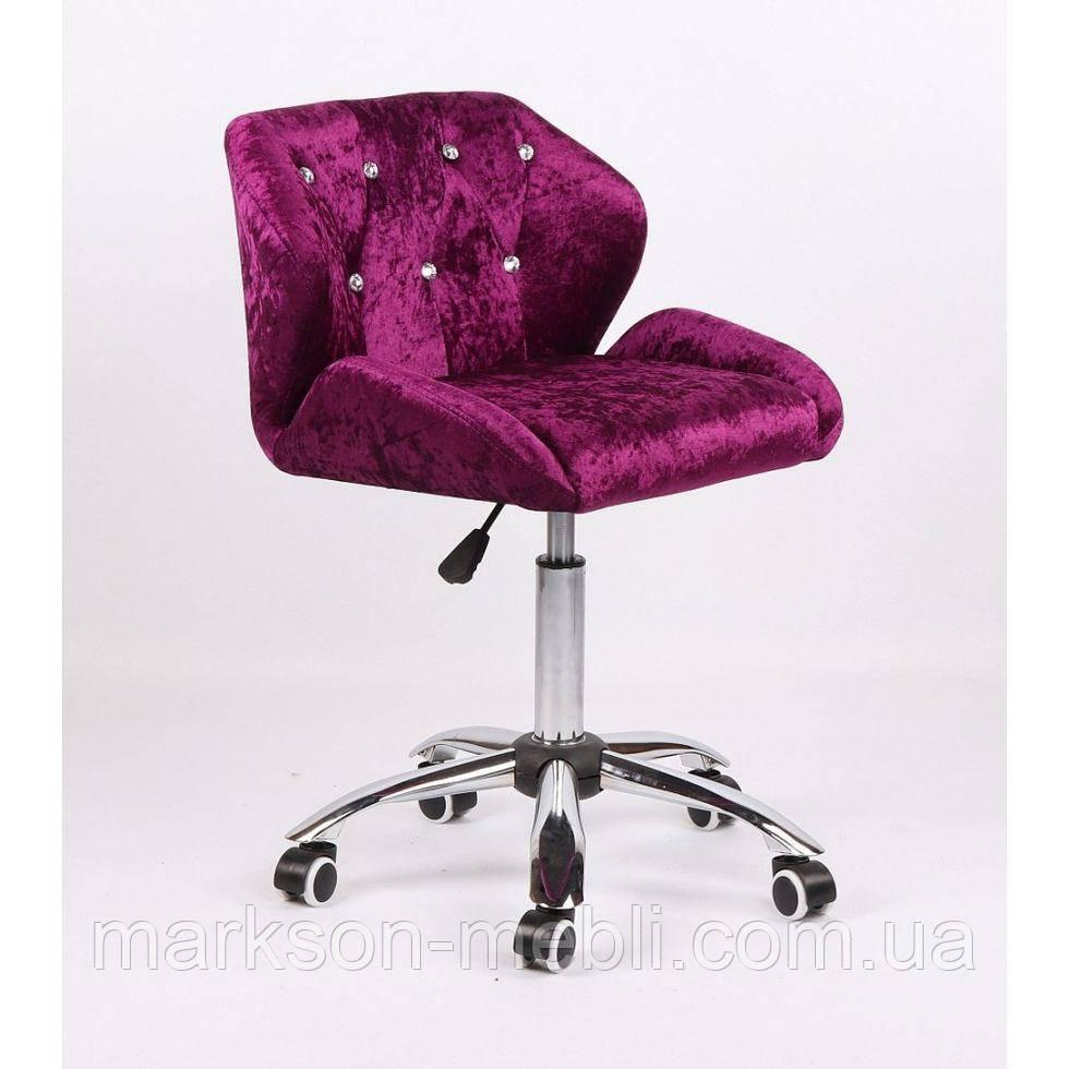 Косметическое кресло HC949K фиолетовое велюр