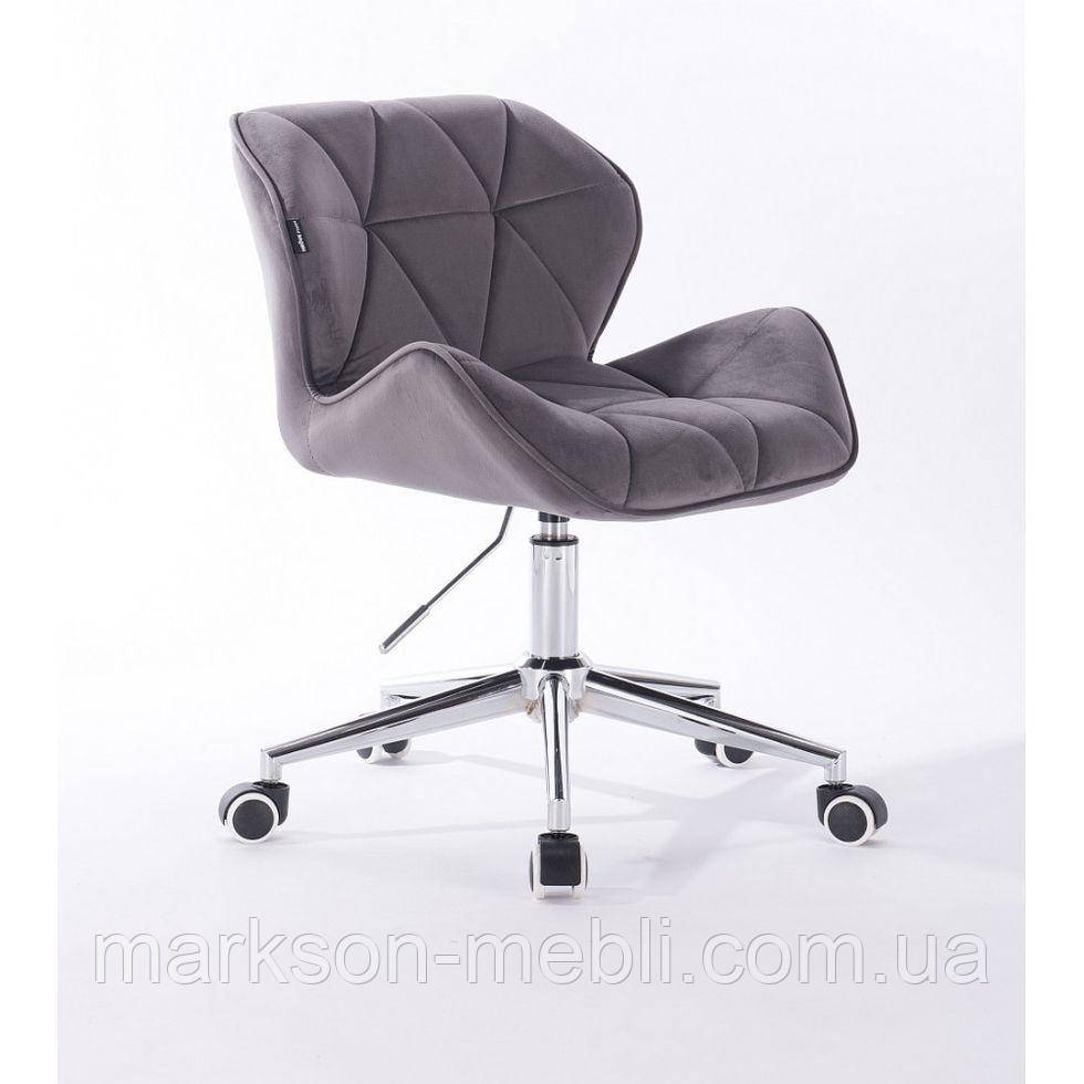 Косметичне крісло HR111K графітовий велюр