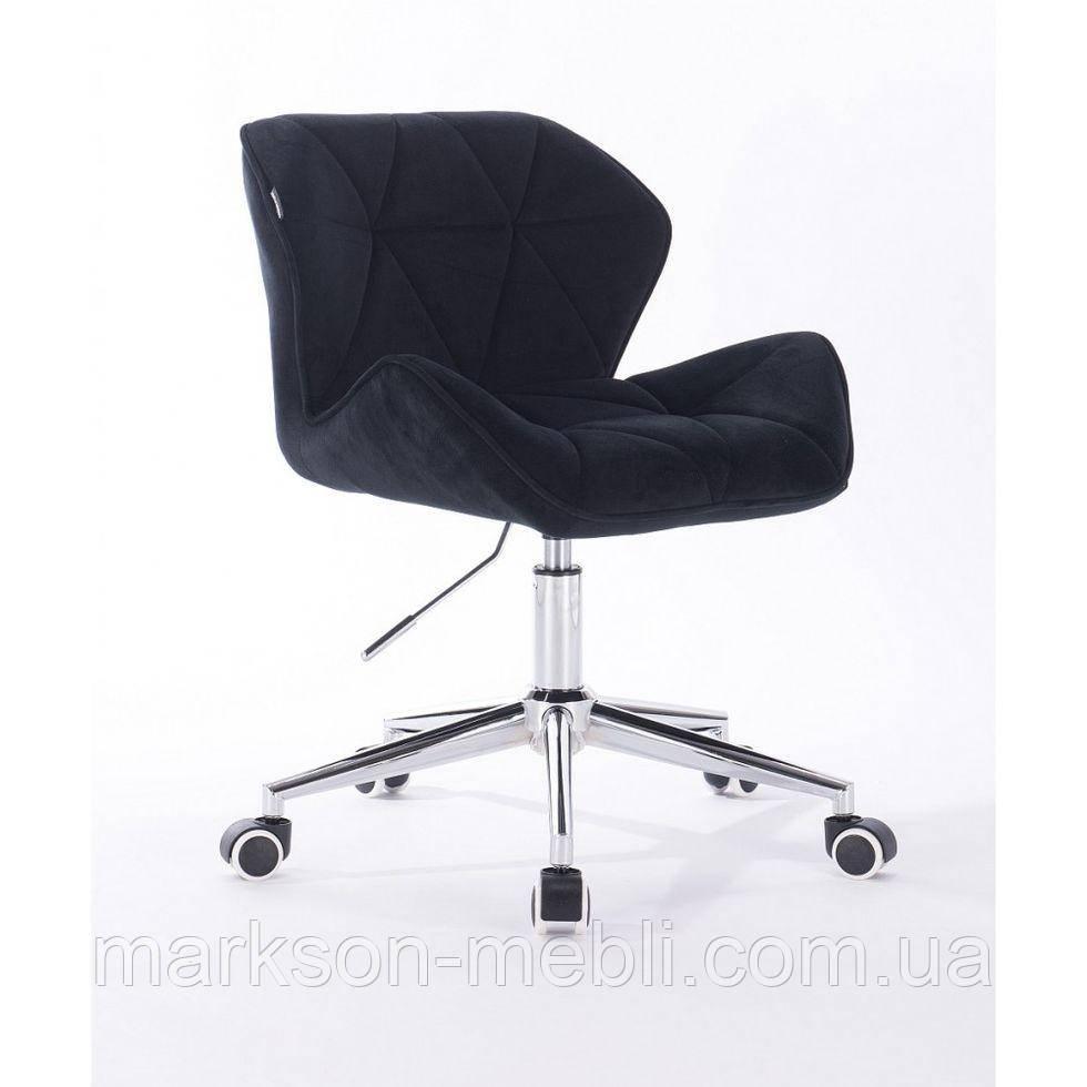 Косметическое кресло HR111K черный велюр
