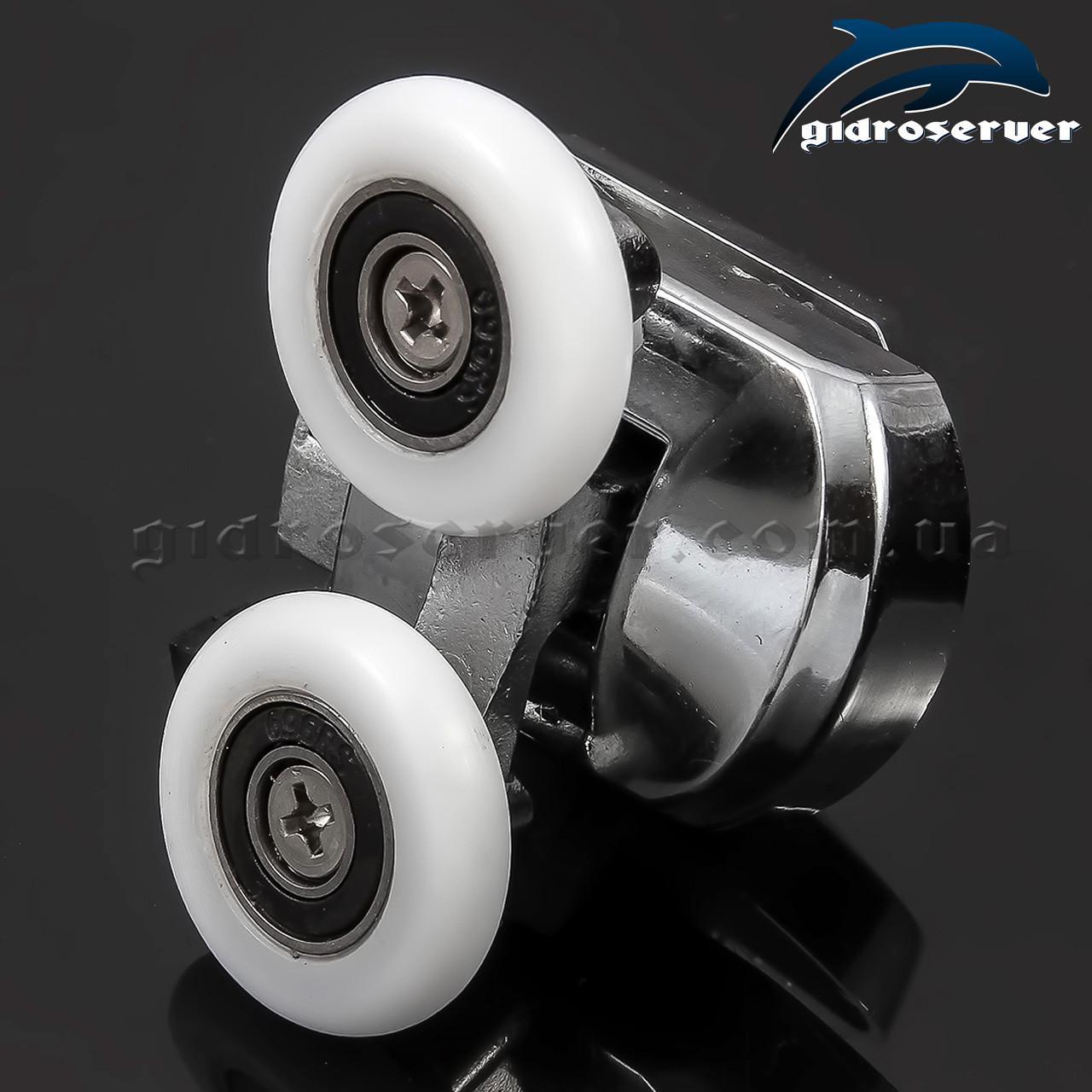 Ролик для душевых кабинок, гидробоксов M-02D с диаметрами колес от 19 до 27 мм.