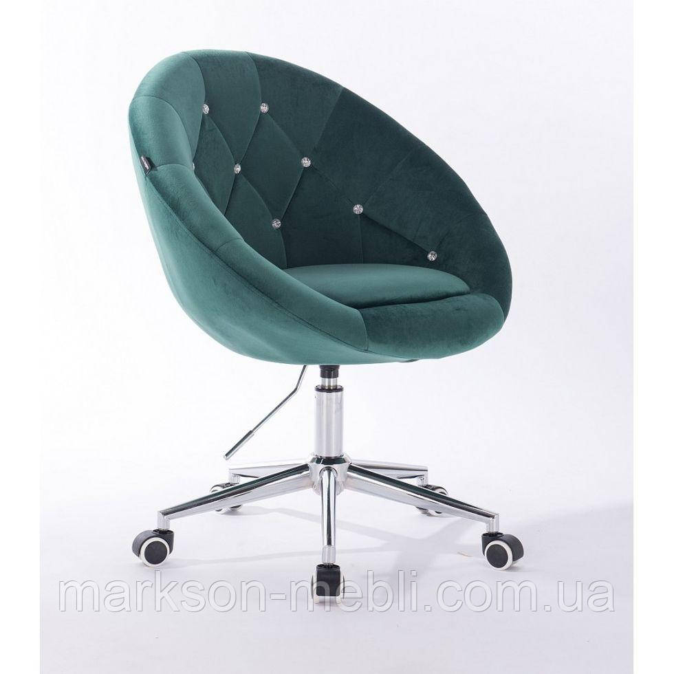 Косметическое кресло HR8516K  бутылочный зеленый велюр