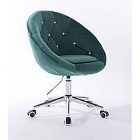 Косметическое кресло HR8516K  бутылочный зеленый велюр, фото 1