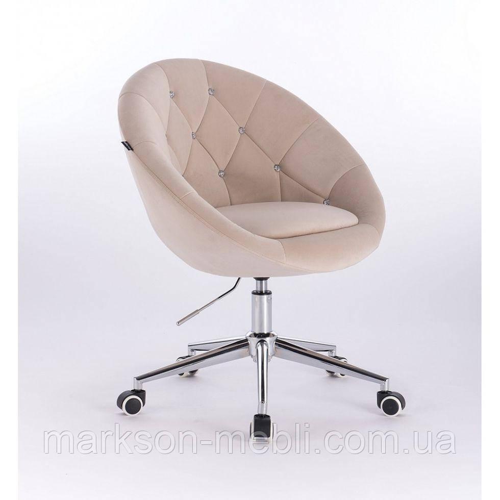 Косметическое кресло HR8516K  кремовое велюр