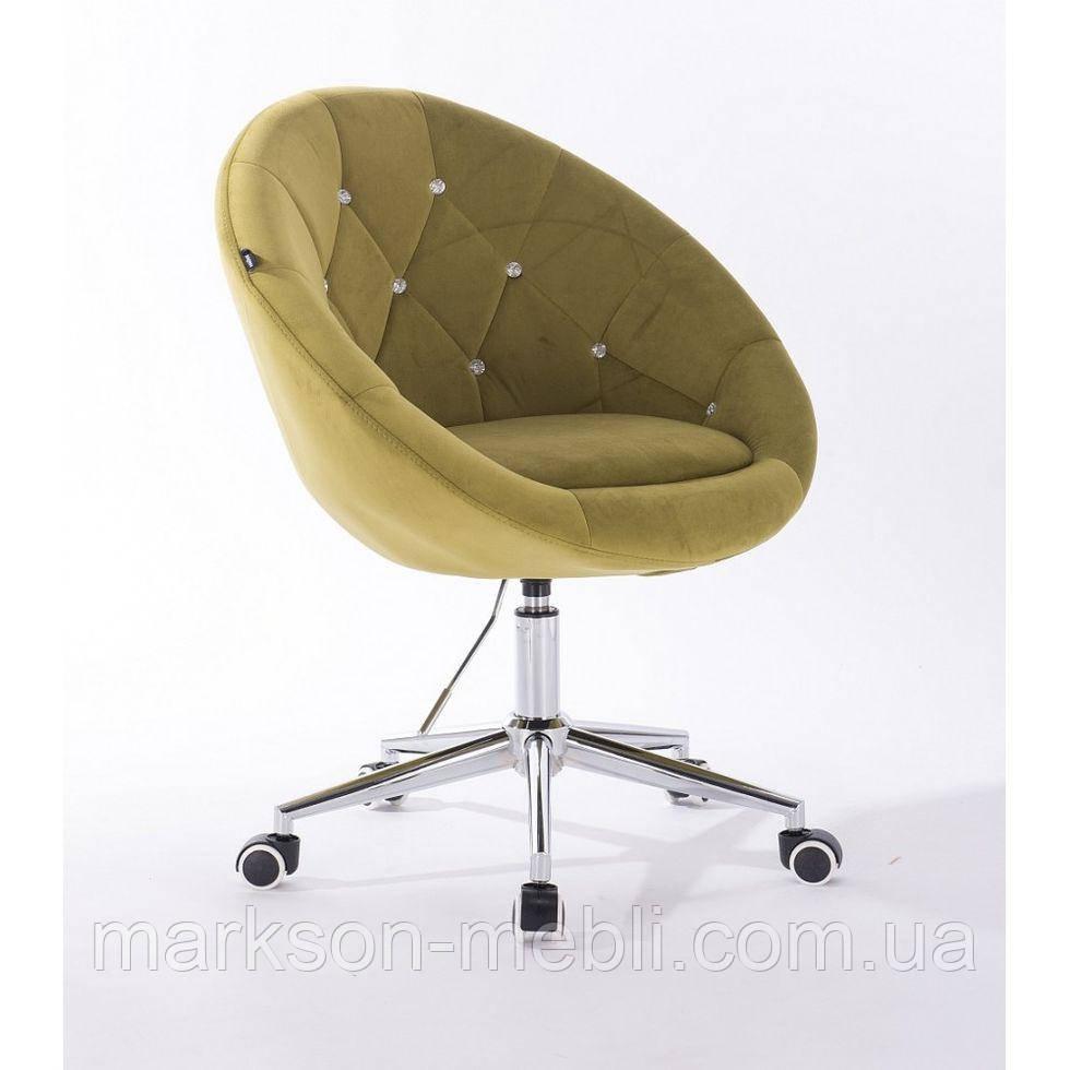 Косметическое кресло HR8516K  оливковый велюр