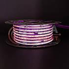 Светодиодная лента 220В розовая smd 2835-120 лед/м 12Вт/м, герметичная. Бухта 50 метров., фото 2