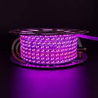 Светодиодная лента 220В розовая smd 2835-120 лед/м 12Вт/м, герметичная, фото 1