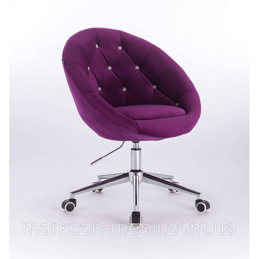 Косметическое кресло HR8516K  фиолетовое велюр