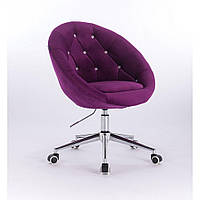 Косметическое кресло HR8516K  фиолетовое велюр, фото 1