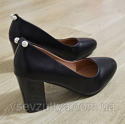 Туфлі чорні жіночі на каблуку. Тільки 36,37,38,40,41 розміри!