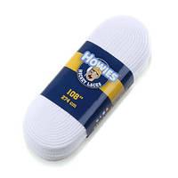 """Шнурки для хоккейных судей Howies Referee 120""""/белые (не вощеные)"""