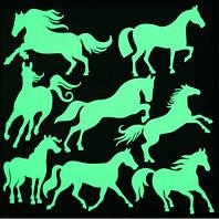 """Люминесцентные наклейки """"Лошади"""" - 21*20см"""