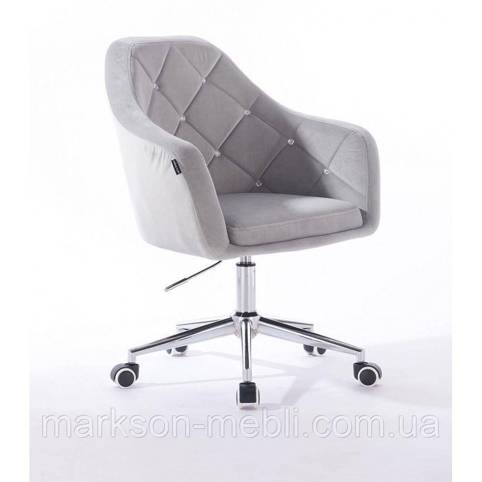 Косметическое кресло HROOVE FORM HR830K стальной велюр