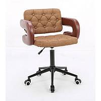 Косметическое кресло HROOVE FORM HR8403K корица ткань, фото 1
