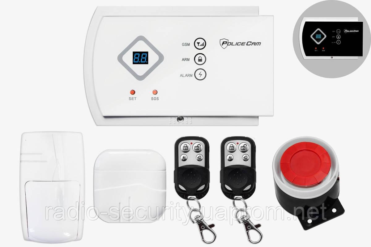 Комплект беспроводной GSM сигнализации PoliceCam GSM 10A Prof