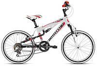 Велосипед BOTTECCHIA FULL SUSPENSION 20 Белый с крассным