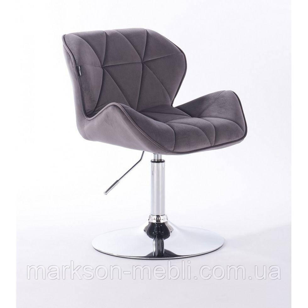 Кресло косметическое HR111N графитовый велюр