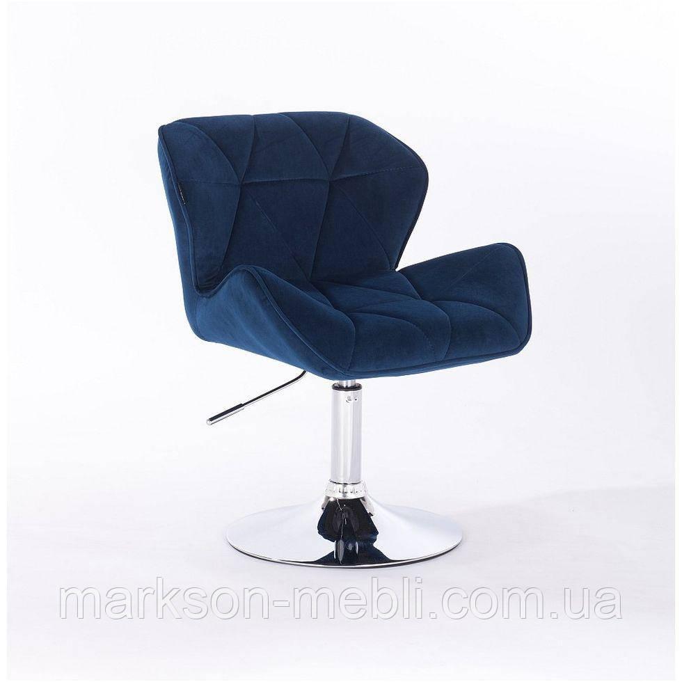 Кресло косметическое HR111N зеленый синий велюр
