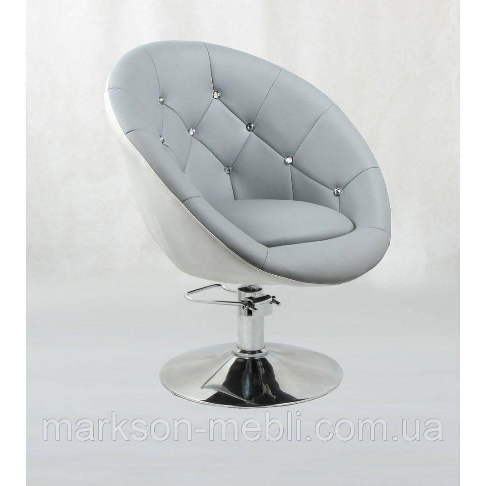 Кресло парикмахерское HC-8516H серо-белое