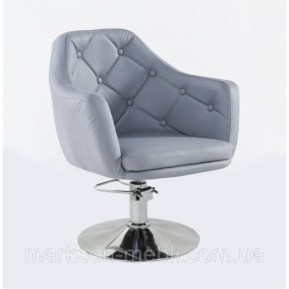 Кресло парикмахерское HC831H серое ГИДРАВЛИКА