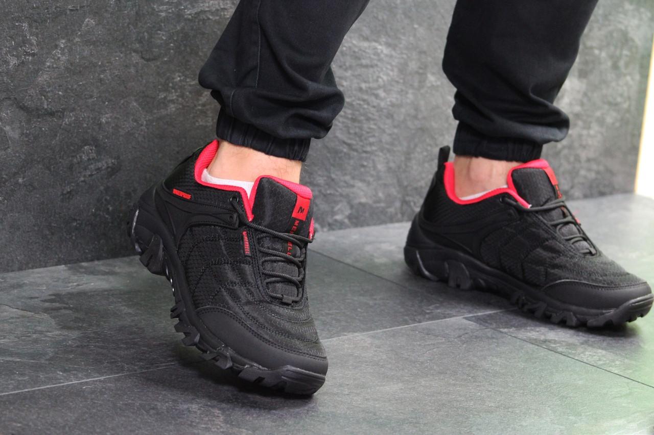 Мужские кроссовки Merrell (черно-красные) весна-осень