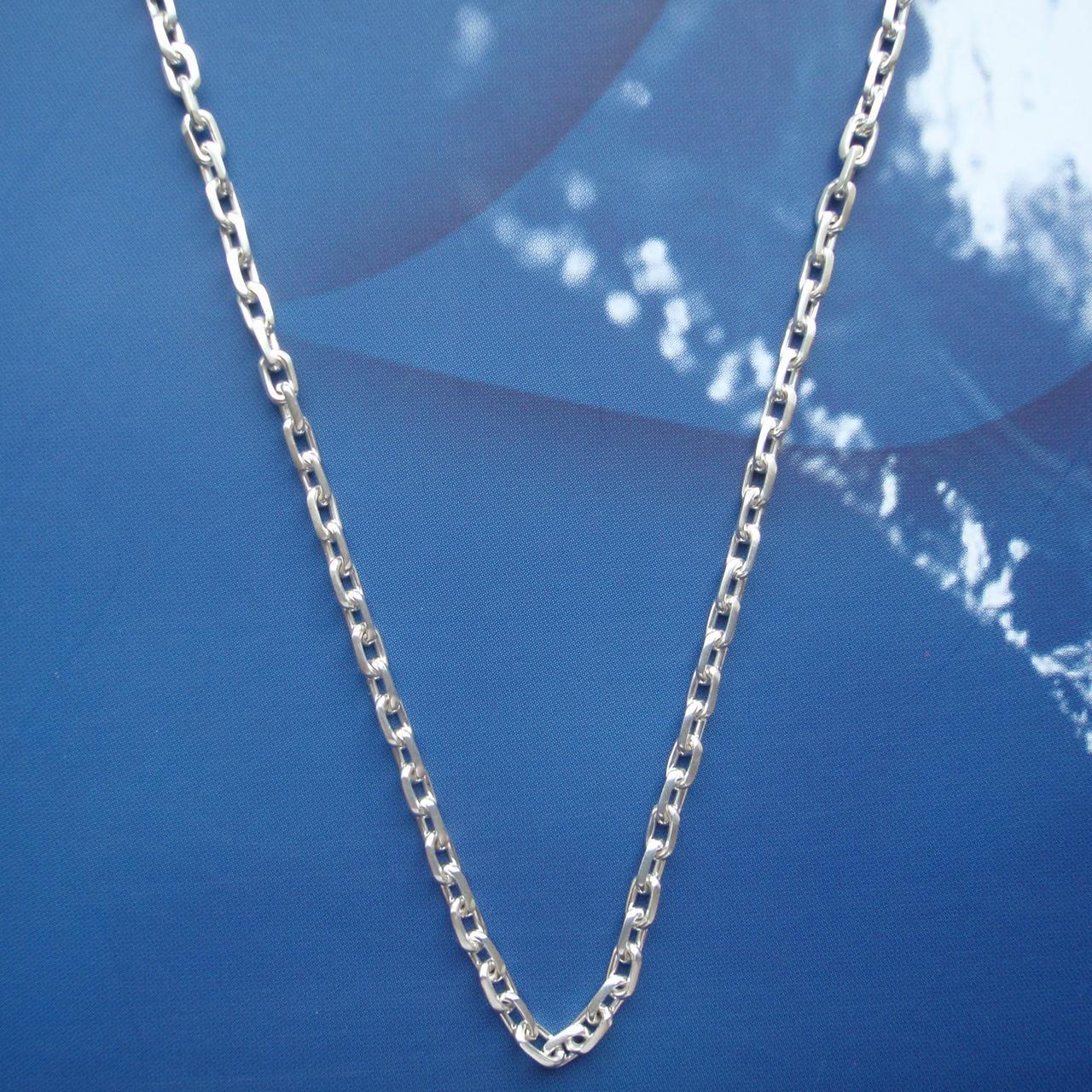 Серебряная цепочка, 550мм,10 грамм, якорное плетение
