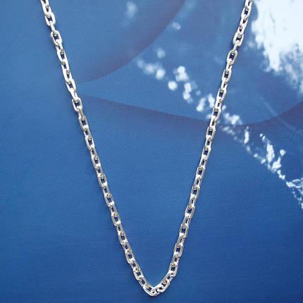 Серебряная цепочка, 550мм,10 грамм, якорное плетение, фото 2