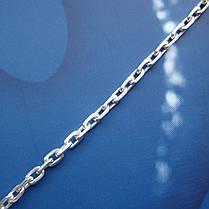 Серебряная цепочка, 550мм,10 грамм, якорное плетение, фото 3
