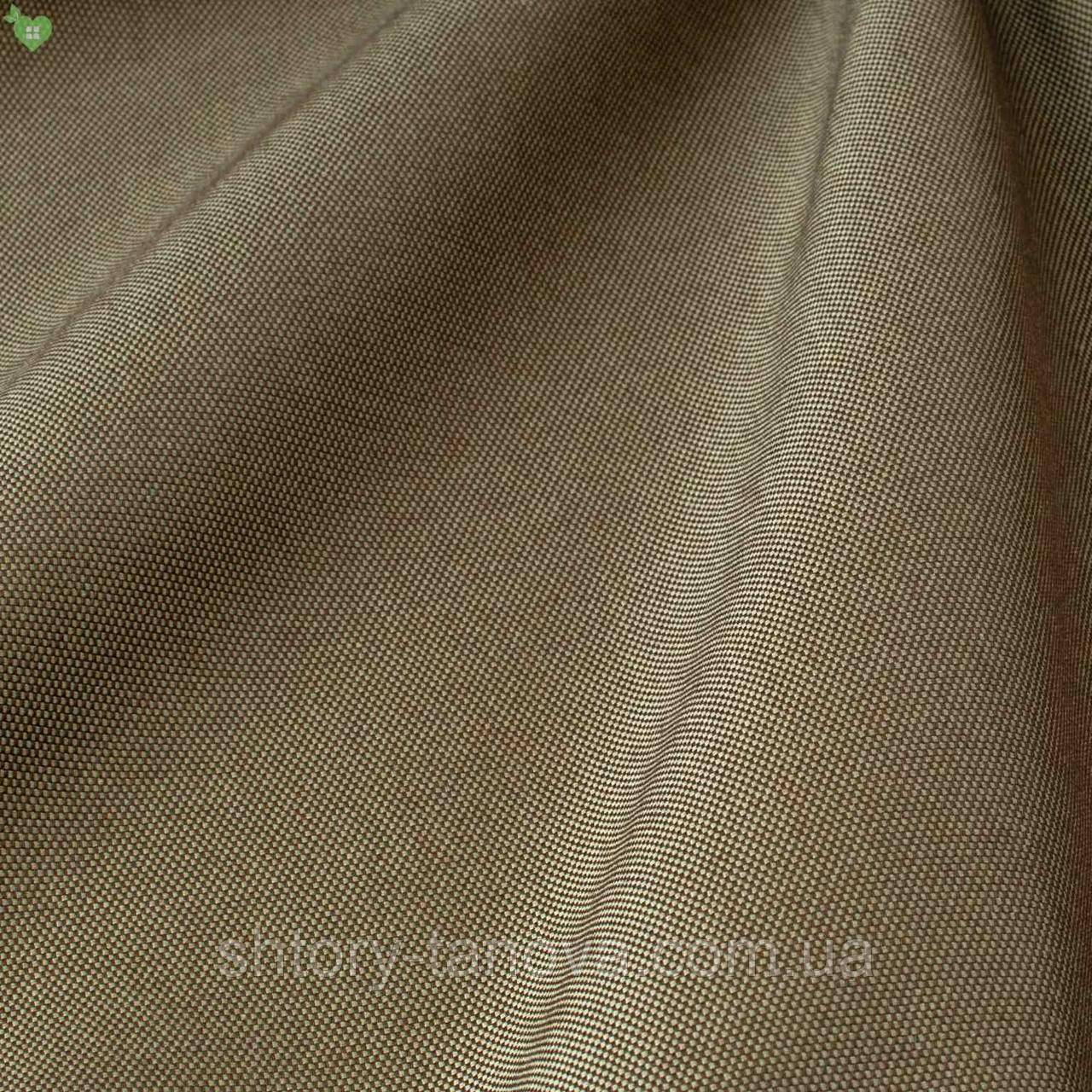 Уличная ткань с фактурой коричневого цвета для штор на павильон