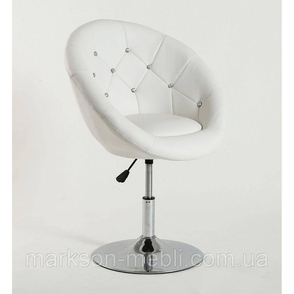 Парикмахерское  кресло HC-8516C белое со стразами