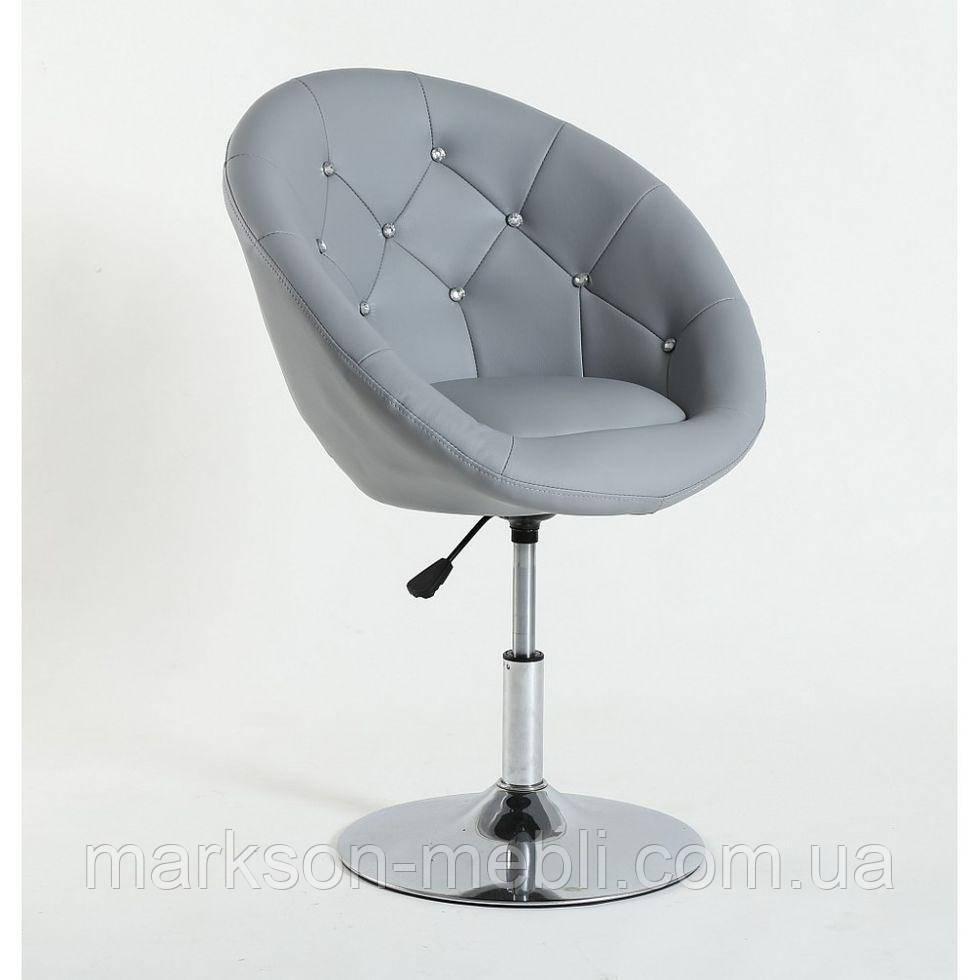 Парикмахерское  кресло HC-8516C серое со стразами