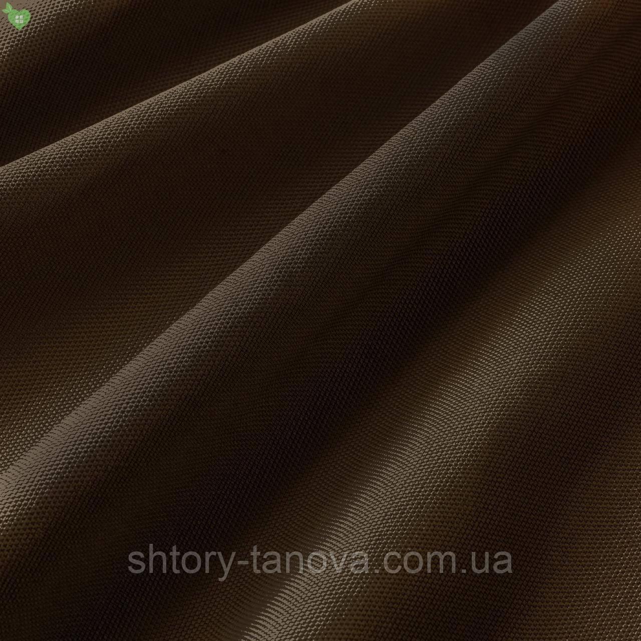 Уличная ткань фактурная коричневого цвета для штор на веранду