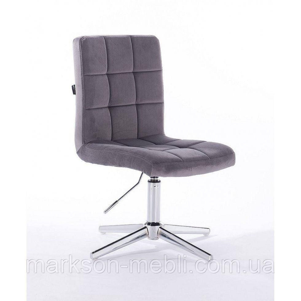 Парикмахерское  кресло HROVE FORM HR7009CROSS графитовый велюр