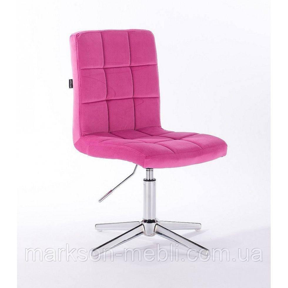 Парикмахерское  кресло HROVE FORM HR7009CROSS малиновый велюр