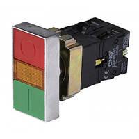 Кнопка LAY5-ВW8365 двойная с подсветкой (красная, зеленая) 22ø, NO + NC, CNC