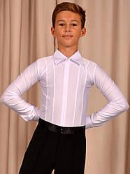 """Рубашка - комбидресс для танцев """"Ювенал"""" на молнии с защипами"""
