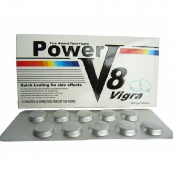Vigra Power V8 вигра Пауэр B8 средство повышающее потенцию 10 таблеток в упаковке