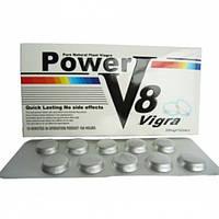Таблетки для потенции Vigra Power V8 Вигра Пауэр B8 средство для повышения потенции 10 таблеток в упаковке