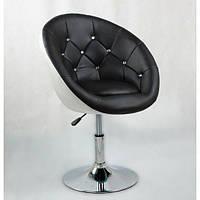 Парикмахерское кресло HC-8516 черно-белое