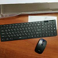 Беспроводный комплект клавиатура и мышка UKC K06 черный для ПК компьютера и ноутбука