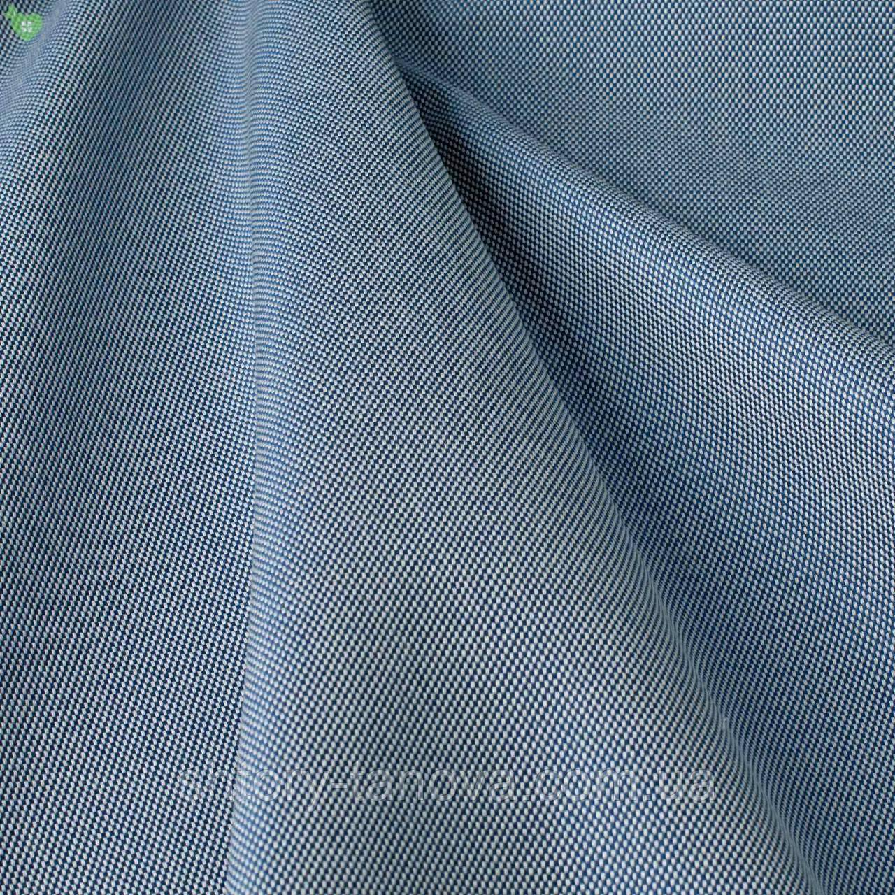 Уличная ткань с фактурой голубого цвета для штор на открытую террасу