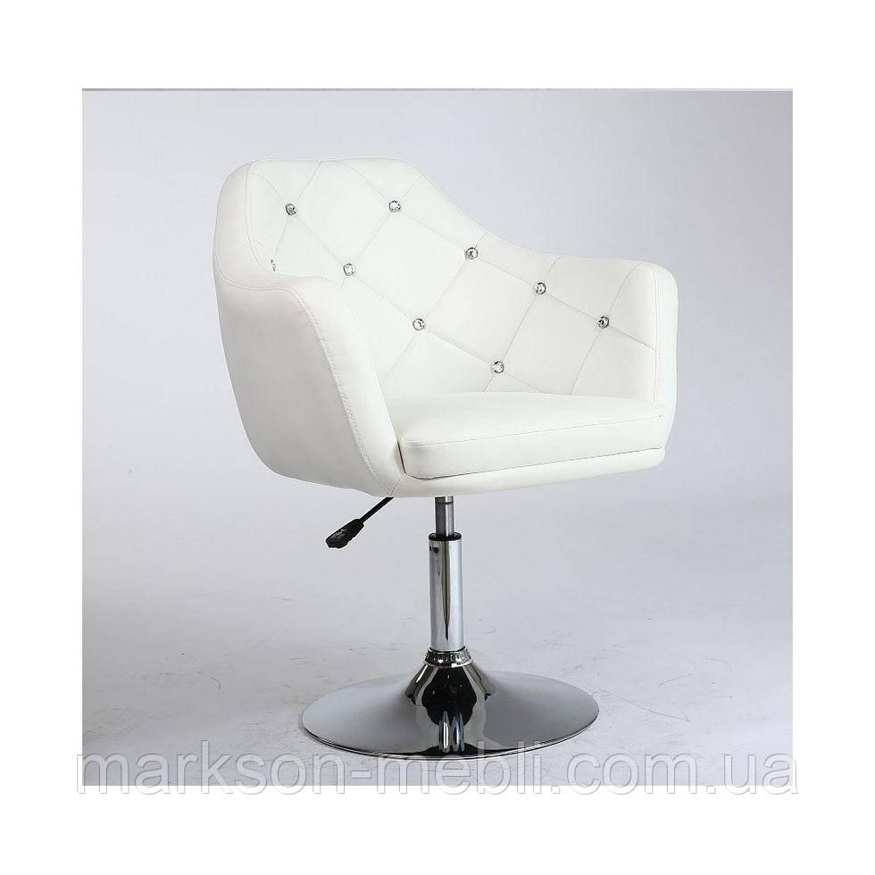 Парикмахерское кресло HC830 белое