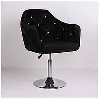 Перукарське крісло HC830 чорне велюр, фото 1