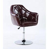 Парикмахерское кресло HC830B коричневое, фото 1
