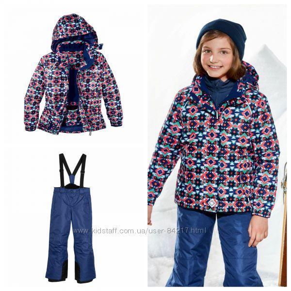 Лыжный костюм для девочки (разноцветная куртка и синие штаны) Crivit р.122/128