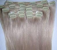 Набор натуральных волос на клипсах 52 см. Оттенок №200. Масса: 130 грамм.