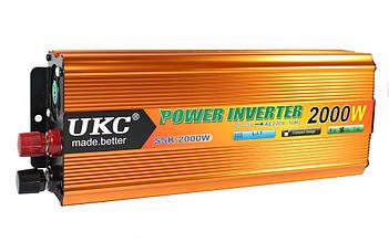 Преобразователь напряжения UKC 2000W 24V gold AC/DC SSK VCK
