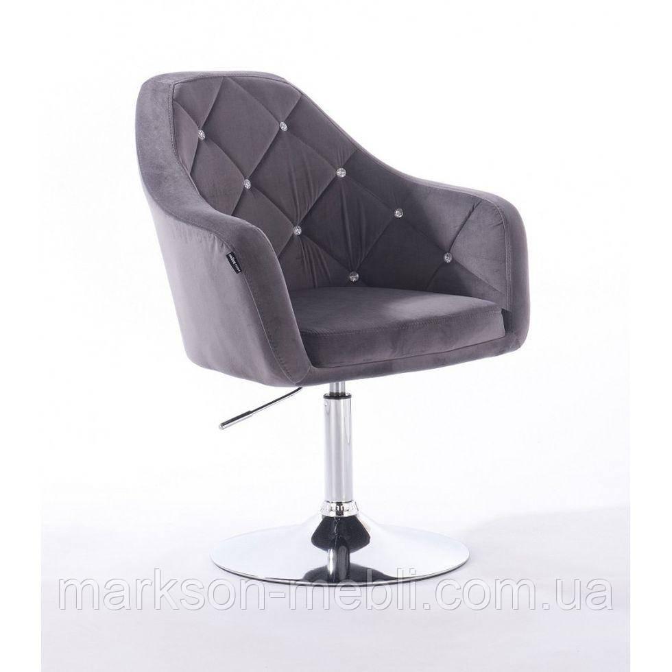 Парикмахерское кресло HROVE FORM HR830 графитовый велюр